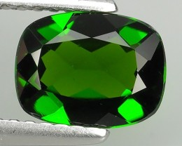 1.35 Cts Eye Catching Natural Rich Green Chrome Diopside Cushion