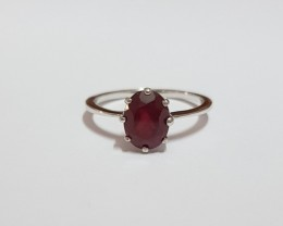 Ruby composite 925 Sterling silver ring #093