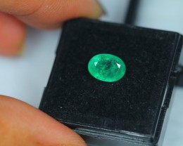 1.65Ct Natural Zambia Emerald Oval Cut Lot V1437