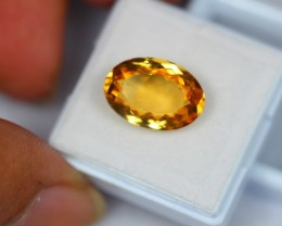 7.15Ct Natural Yellow Citrine Oval Cut Lot V1440
