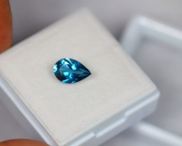 1.54Ct Natural London Blue Topaz Pear Cut Lot V1445