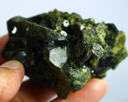 928 CT Natural - Unheated Green Epidot Specimen