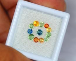 1.82Ct Natural Fancy Color Sapphire Round Cut Lot V1469