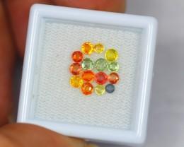 1.87ct Natural Fancy Color Sapphire Round Cut Lot GW1483