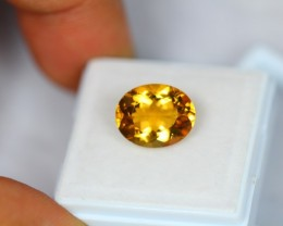 4.30Ct Natural Yellow Citrine Oval Cut Lot V1500
