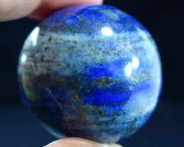 633 CT Natural lapis  lazuli Carvid Ball Stone Special Shape