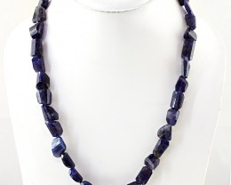 Genuine 319.00 Cts Blue Tanzanite Faceted Beads Necklace