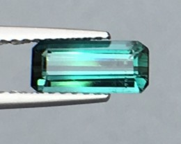 1.30 Cts Untreated Indicolite Tourmaline Awesome Color ~ Afghanistan Pk19