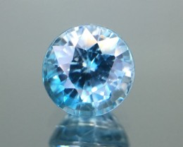 1.27 Cts Blue Zircon Awesome Color ~ Cambodia Pk16