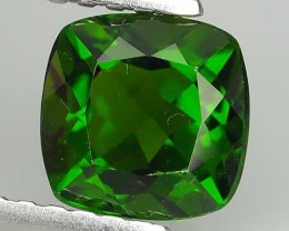 1.30 CTS NATURAL ULTRA RARE CHROME GREEN DIOPSIDE CUSHION RUSSIA