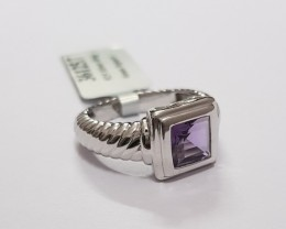 Amethyst 925 Sterling silver ring #125