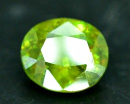 No Reserve - 1.10 cts Rare Full Fire Green Sphene Titanite Gemstone