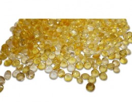 87 Stones - 20 ct Citrine 4mm Round