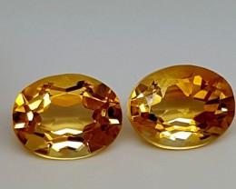 3.40Crt Madeira Citrine Pairs Best Grade Gemstones JI 53