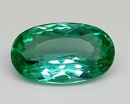 3.95Crt Green Spodumene Best Grade Gemstones JI 53