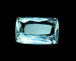 14.04 Carats Cushion Cut Certified Untreated Aquamarine Gemstone (MR)
