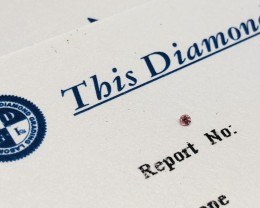 0.014ct 5P I2 Certified Argyle Pink Diamond