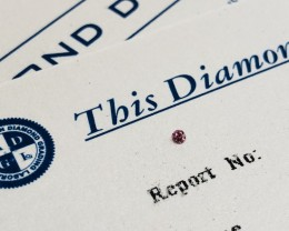 0.018ct 4P I1 Certified Argyle Pink Diamond