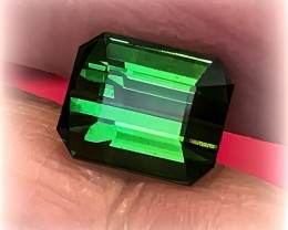 3.75ct Certified Large Emerald Green Tourmaline - Exalted - Top Grade Stone