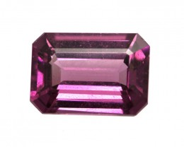 1.19cts Natural Rhodolite Garnet Emerald Cut