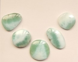 32.5ct 5Pcs  Hot Sale Natural Larimar Cabochon(18052401)