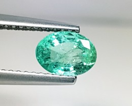 "0.85 ct "" IGI Certified "" Beautiful Green Oval Cut Natural Emeral"