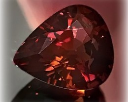 4.25ct Pink Purple Maroon Tourmaline VVS Deep tones with color shift appear