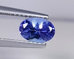 0.90 cts Awesome Blue Oval Cut Natural Tanzanite