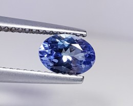 0.93 ct Marvelous Blue Oval Cut Natural Tanzanite