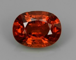 5.35 CTS EXQUISITE NATURAL UNHEATED ORANGE RED COLOR OVAL SPESSARTITE