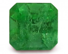 1.12 ct GIA Certified Colombian Square Cut Emerald