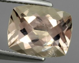 3.05 Cts Exclusive Lustrous Peach Cushion Morganite Beauiful Color Bazil