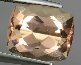 5.90 Cts Exclusive Lustrous Peach Cushion Morganite Beauiful Color Bazil