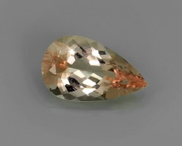 2.80 Cts Exclusive Lustrous Peach Pear Morganite Beauiful Color Bazil