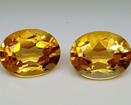 3.55 Cts  CITRINE PAIR Best Grade Gemstones JI 54