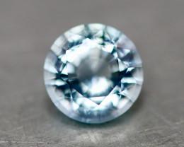 Natural medium blue aquamarine.