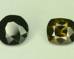 Rare Collectors Gem 2 Pcs ~ 1.10 ct Natural Kornerupine