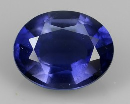 1.20 CTS SPATKLING TOP LUSTER OVAL CUT NATURAL IOLITE