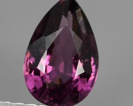 1.05 CTS LOVELY NATURAL SWEET PURPLE PINK  RHODOLITE GARNET PEAR TANZANIA