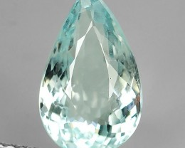 3.05 CTS-BEST-GRADE-SPARKLING-RARE-NATURAL-AQUAMARINE-PEAR NR!
