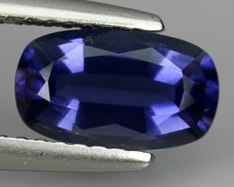 1.20 CTS GENUINE NATURAL ULTRA RARE LUSTER IOLITE CUSHION NR!!!