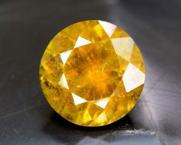 No Reserve - 3.10 cts Rare Round Cut Full Fire Sphene titanite From Skrdu P