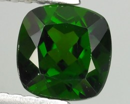 1.1CTS NATURAL ULTRA RARE CUSHION CHROME GREEN DIOPSIDE RUSSIA