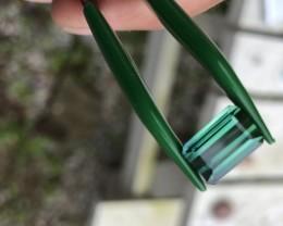 4.20 ct Blue green indicolite tourmaline Afghanistan.