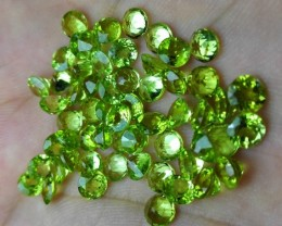 No Reserve 30 crt calibrated size peridot for jewelry