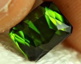3.95 Carat VVS Green Nigerian Tourmaline - Gorgeous