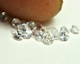 1.0 Tcw. White Zircon Accent Gems - 2mm - 20Pcs. - Gorgeous