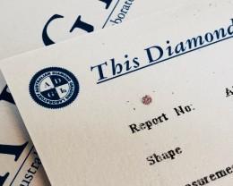 0.031ct 6P Si2 Certified Argyle Pink Diamond