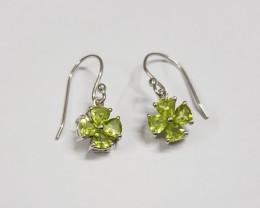 Peridot 925 Sterling silver earring #7768