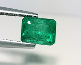 "1.37 ct "" IGI Certified "" Top Grade Green Emerald Cut Natural Eme"